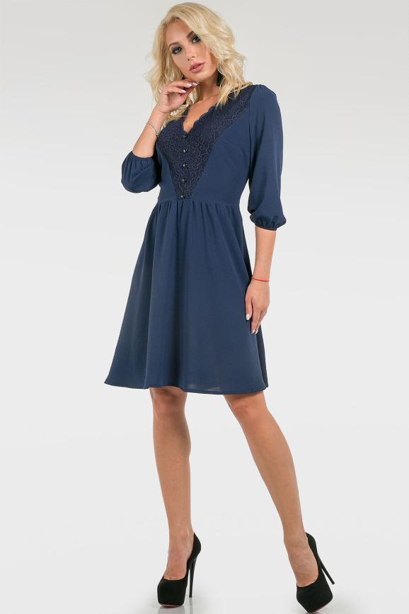 Романтичное платье с кружевом|интернет-магазин vvlen.com