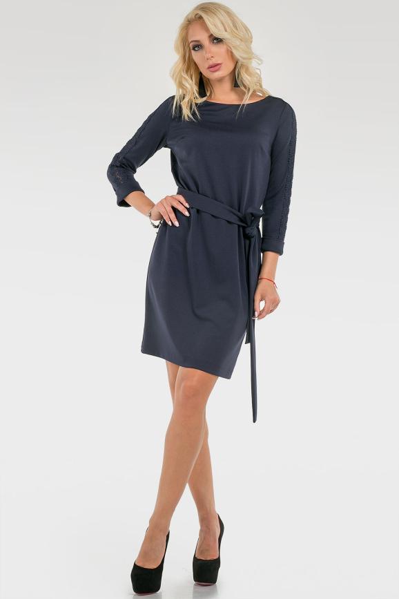 Лаконичное платье с поясом|интернет-магазин vvlen.com