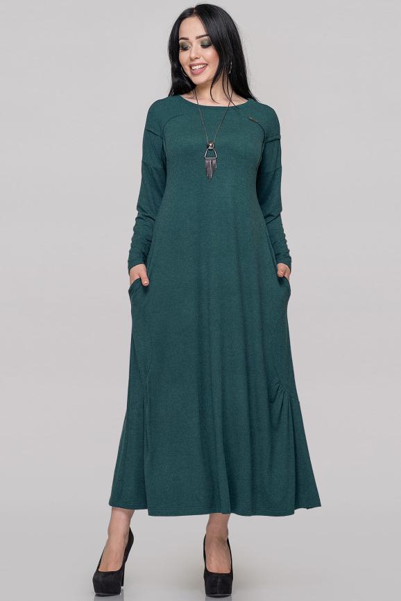 Платье оверсайз зеленого цвета 2822.17|интернет-магазин vvlen.com