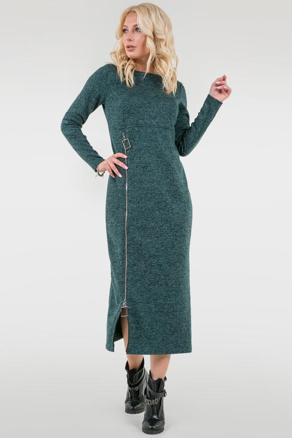Повседневное платье туника зеленого цвета|интернет-магазин vvlen.com