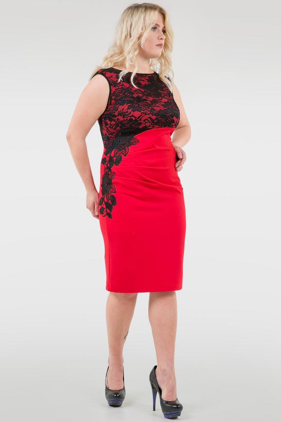 Платье футляр красного цвета |интернет-магазин vvlen.com