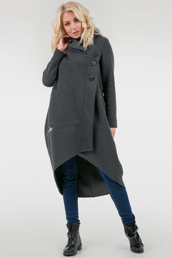 Кардиган стильный темно-серого цвета 2748.70|интернет-магазин vvlen.com