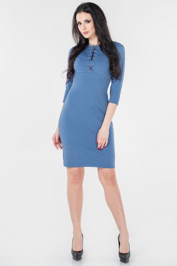 Повседневное платье футляр джинса цвета 2659.47|интернет-магазин vvlen.com