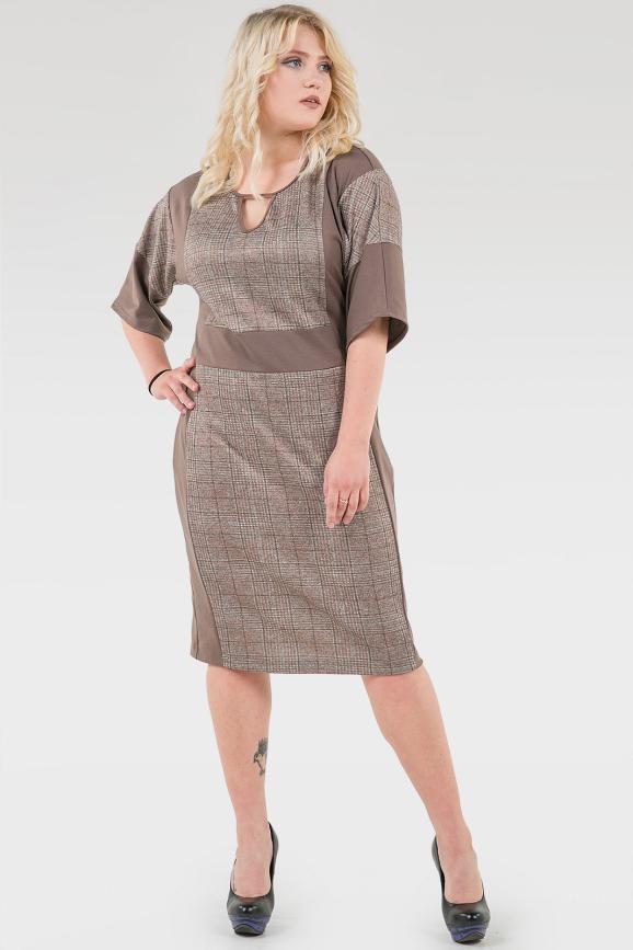 Платье футляр капучино цвета 2376.103 |интернет-магазин vvlen.com