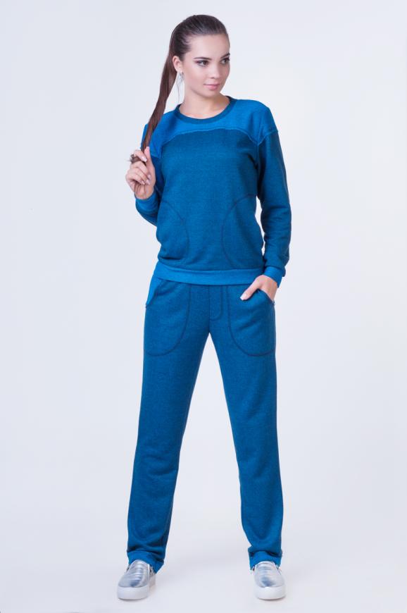 Спортивный костюм синего цвета 2378.87 интернет-магазин vvlen.com