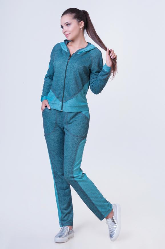 Домашний костюм зеленого цвета 2385.87|интернет-магазин vvlen.com