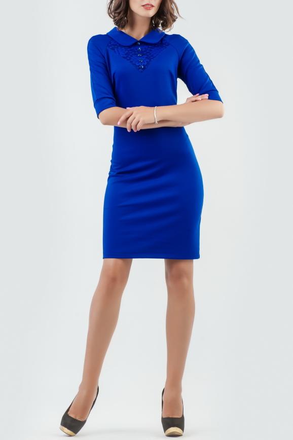 Офисное платье футляр электрика цвета 1841-1.47|интернет-магазин vvlen.com