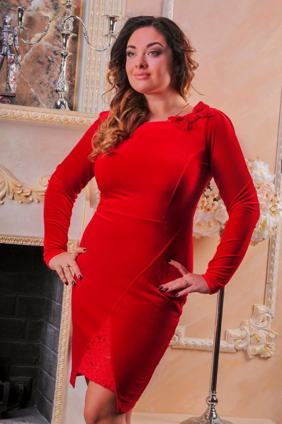 Коктейльное платье футляр красного цвета|интернет-магазин vvlen.com