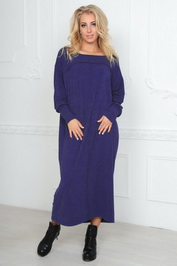 Платье  мешок фиолетового цвета|интернет-магазин vvlen.com