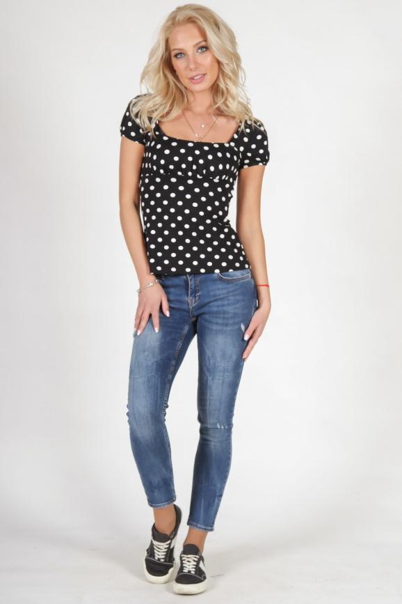 Блуза черного цвета 579.17|интернет-магазин vvlen.com