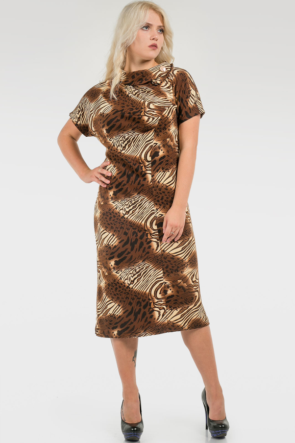 Комфортное трикотажное платье|интернет-магазин vvlen.com
