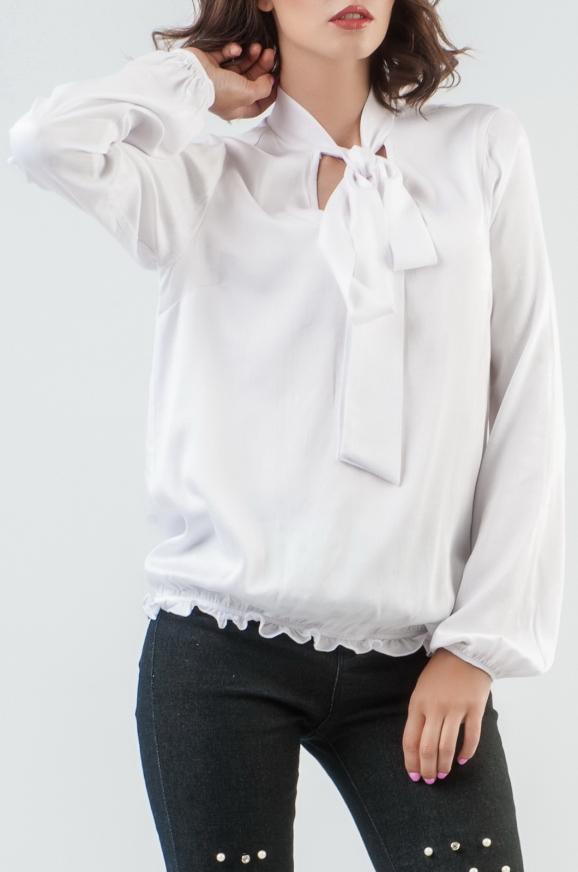 Блуза белого цвета 2577.84|интернет-магазин vvlen.com