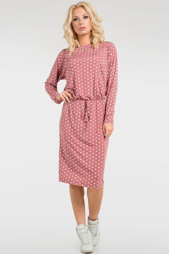 Выразительное платье-миди|интернет-магазин vvlen.com