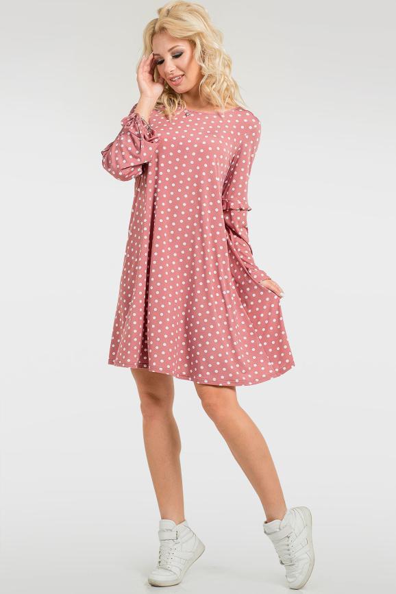Женственное платье в горошек|интернет-магазин vvlen.com