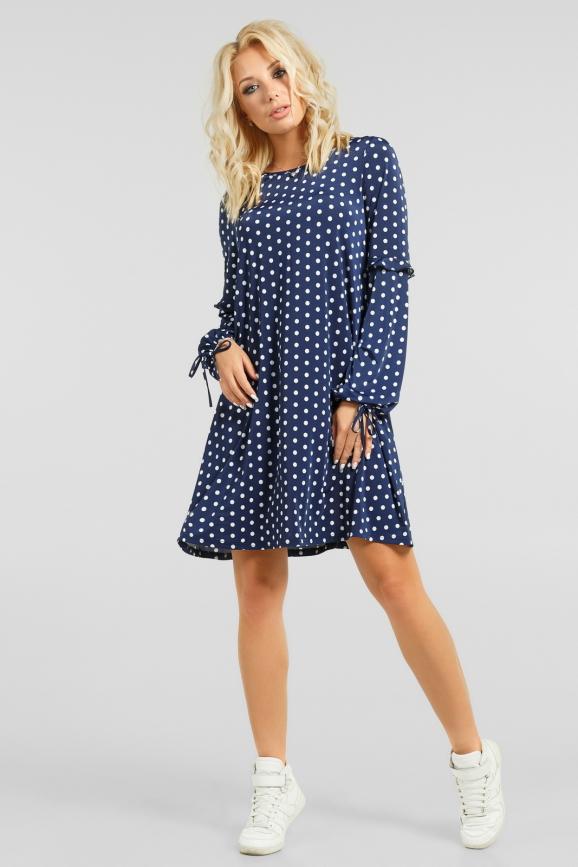Свободное платье в горошек|интернет-магазин vvlen.com
