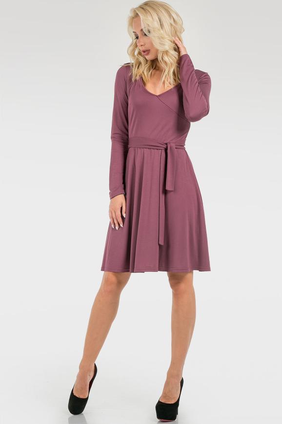 Платье с поясом|интернет-магазин vvlen.com