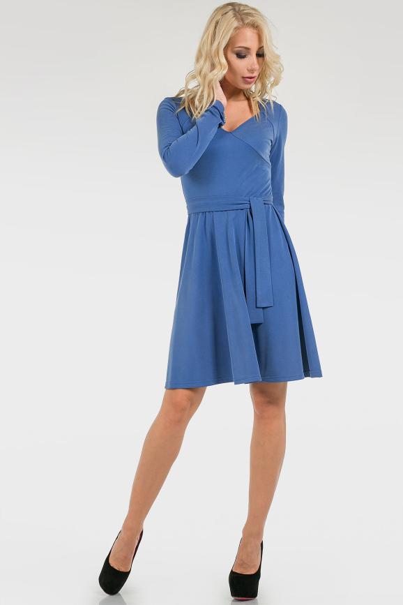 Расклешенное однотонное платье|интернет-магазин vvlen.com