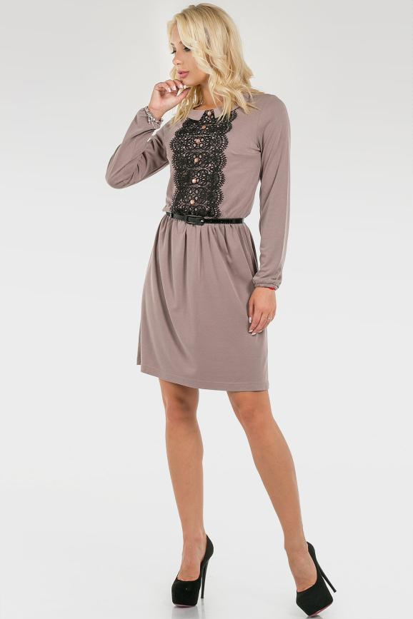 Изящное платье с кружевом|интернет-магазин vvlen.com