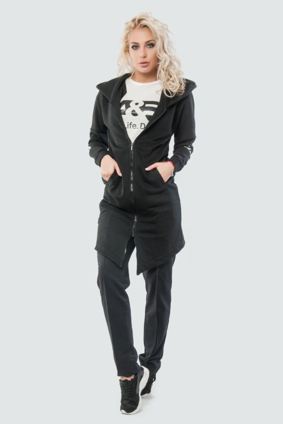 Кардиган стильный черного цвета 010 интернет-магазин vvlen.com