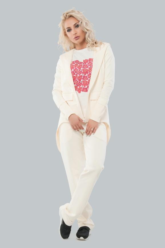 Домашний костюм бежевого цвета 008 интернет-магазин vvlen.com