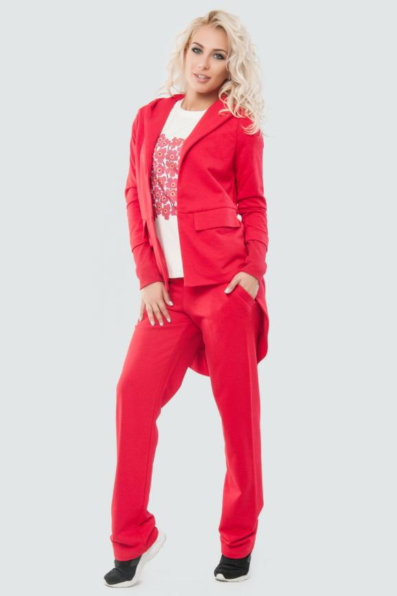 Домашний костюм красного цвета 008|интернет-магазин vvlen.com
