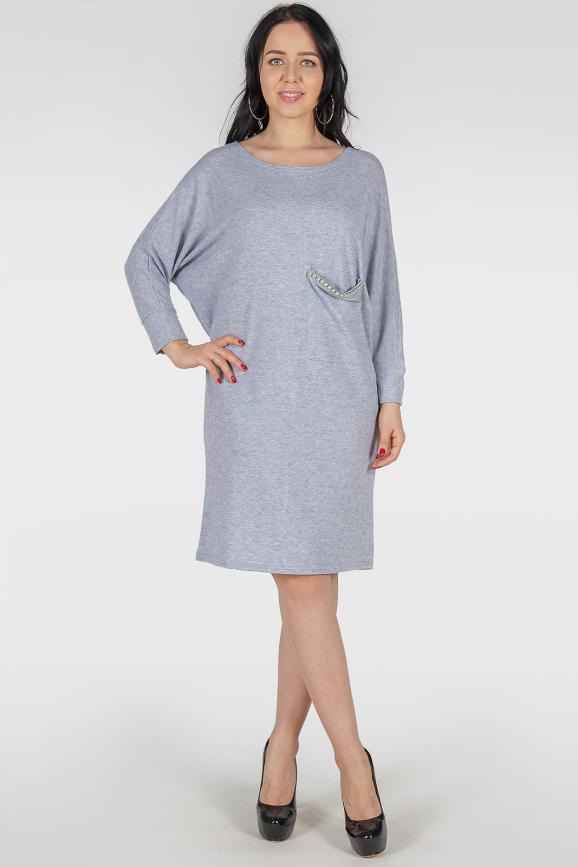 Платье  мешок голубого цвета 410 |интернет-магазин vvlen.com