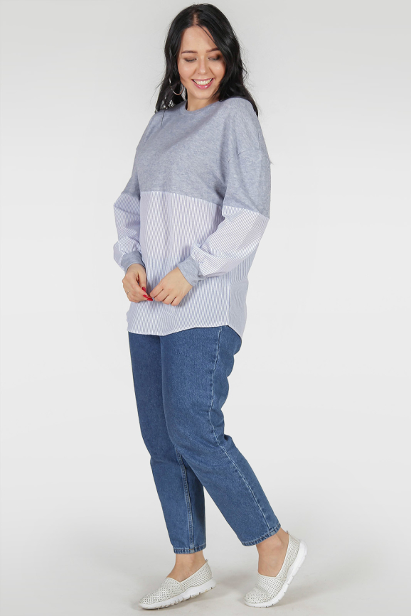Блуза голубого цвета|интернет-магазин vvlen.com