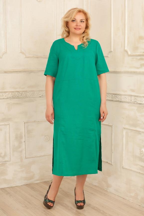 Летнее платье балахон бирюзового цвета|интернет-магазин vvlen.com