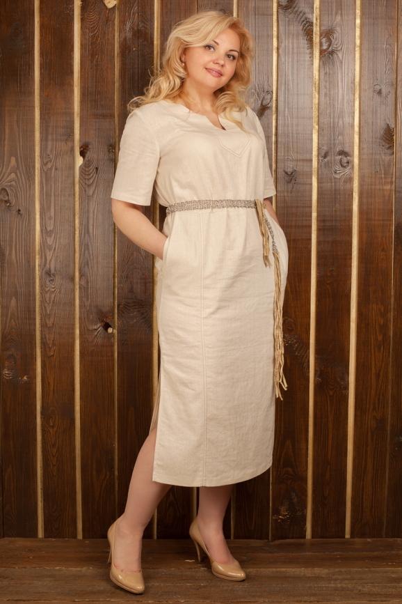 Платье  мешок молочного цвета 2328.81|интернет-магазин vvlen.com