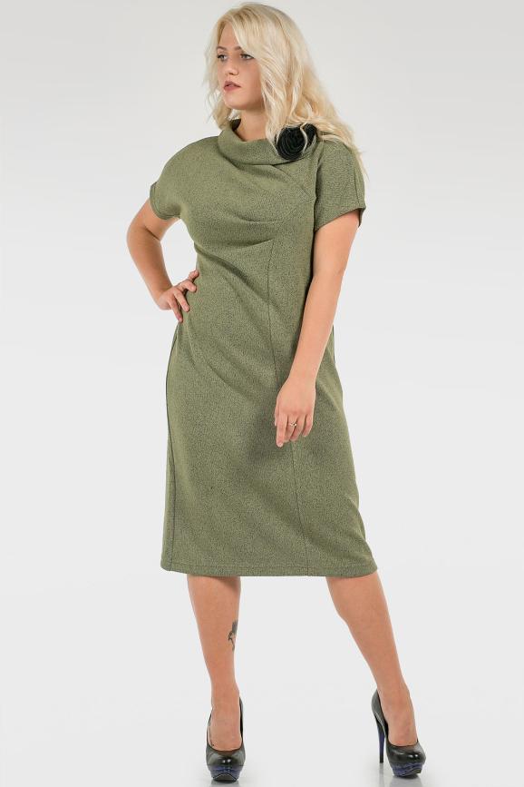 Уютное платье с декором|интернет-магазин vvlen.com