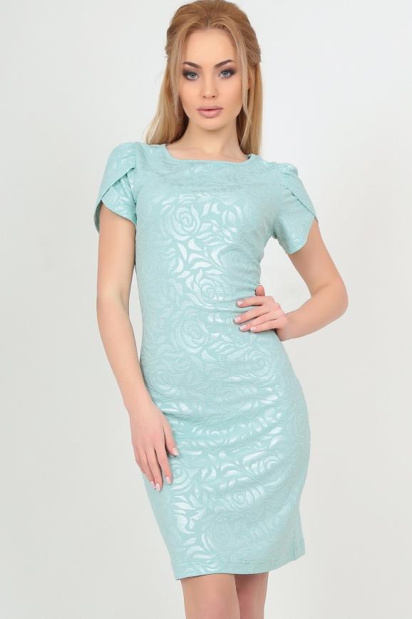 Летнее платье футляр мятного цвета|интернет-магазин vvlen.com