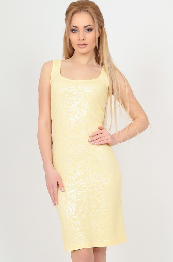 Летнее платье майка желтого цвета 2370-1.89|интернет-магазин vvlen.com