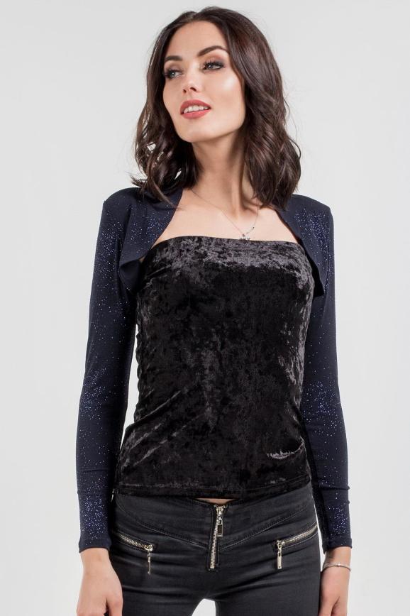 Болеро  темно-синего цвета 361.6|интернет-магазин vvlen.com
