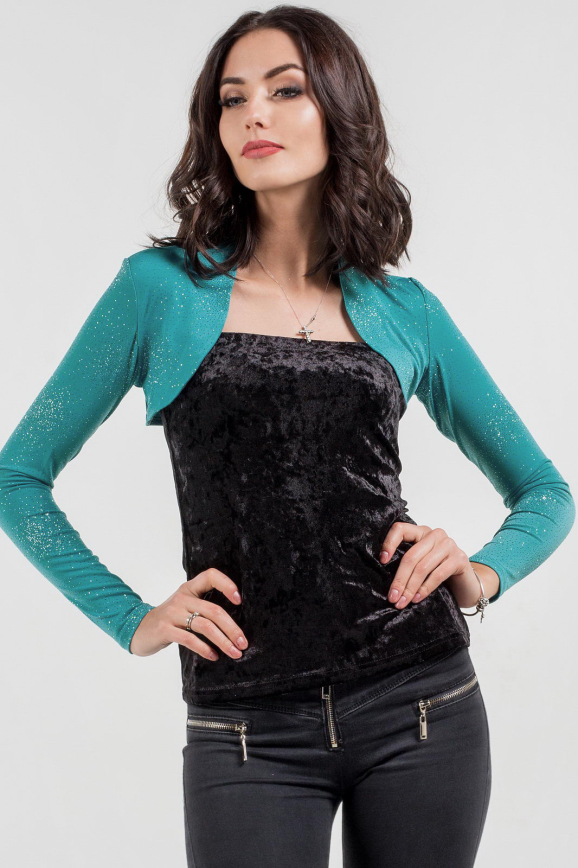 Болеро  голубого цвета 361.6 интернет-магазин vvlen.com