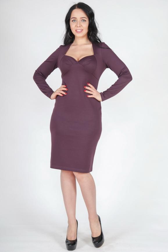 Платье футляр фиолетового цвета |интернет-магазин vvlen.com