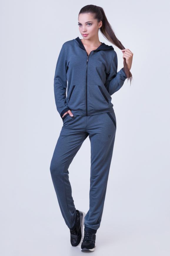 Спортивный костюм темно-серого цвета 2386.79|интернет-магазин vvlen.com