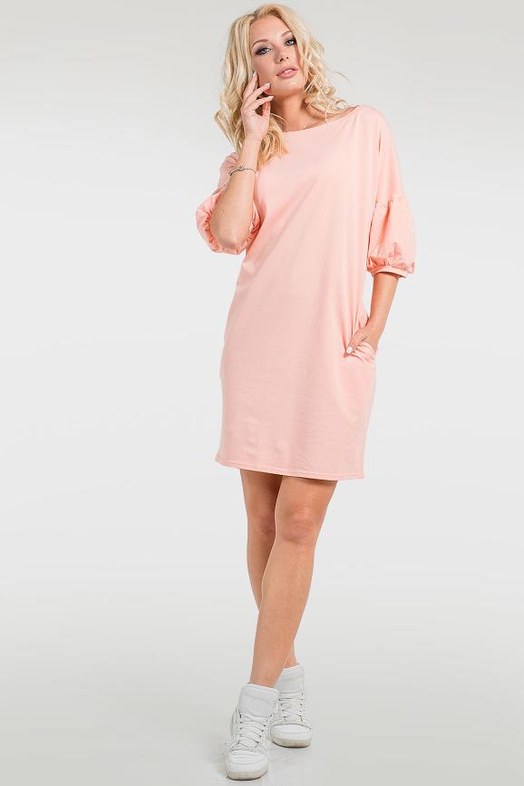 Летнее спортивное платье персикового цвета|интернет-магазин vvlen.com