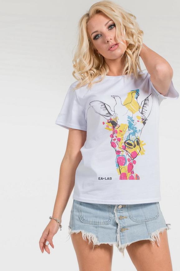 Женская футболка с принтом жираф|интернет-магазин vvlen.com