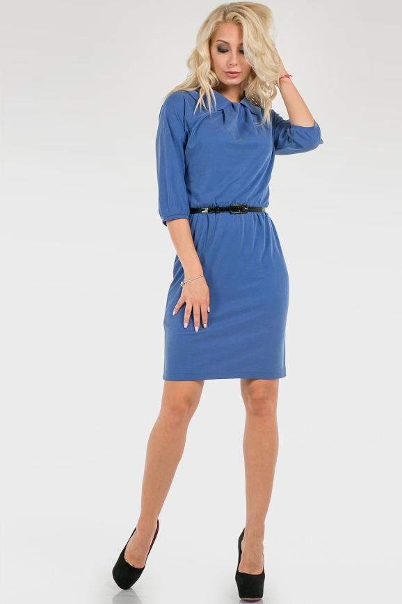 Женственное однотонное платье|интернет-магазин vvlen.com