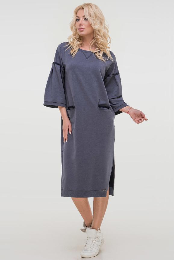 Спортивное платье  джинса цвета 2810.79|интернет-магазин vvlen.com