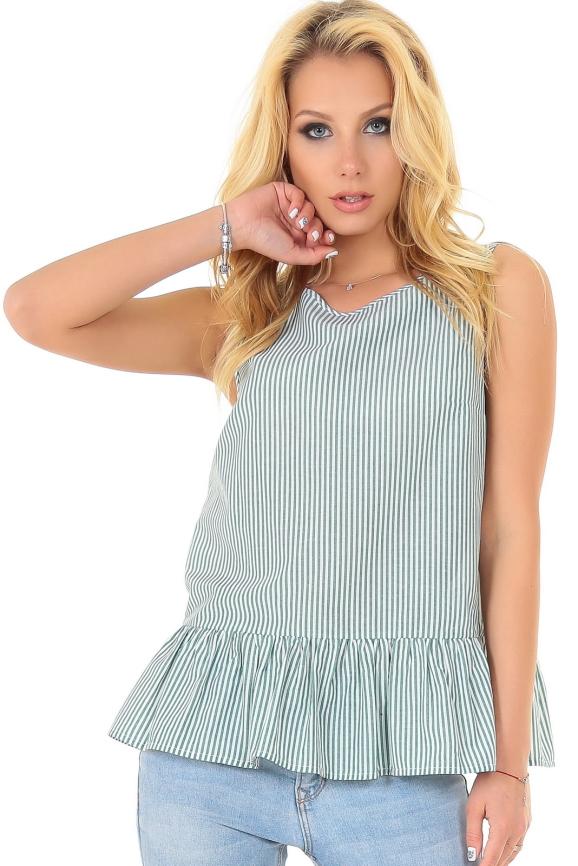 Блуза зеленой полоски цвета 2556.93 интернет-магазин vvlen.com