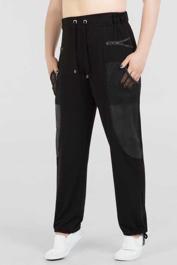 Брюки женские черного цвета 1-1309 интернет-магазин vvlen.com