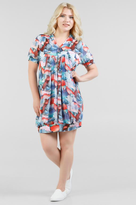 Блуза синего тона цвета 1-1334|интернет-магазин vvlen.com