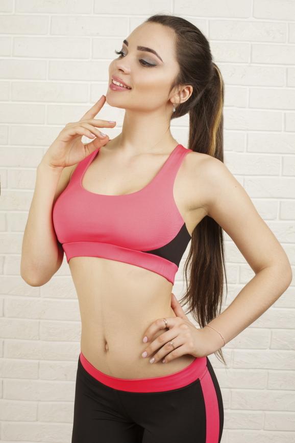 Топ для фитнеса розового цвета 2318.67|интернет-магазин vvlen.com