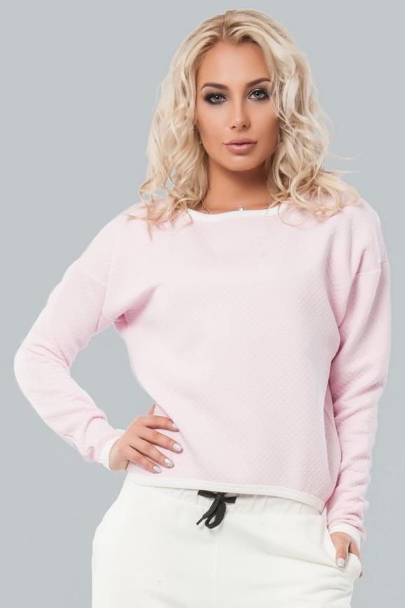 Свитшот розового цвета  004|интернет-магазин vvlen.com