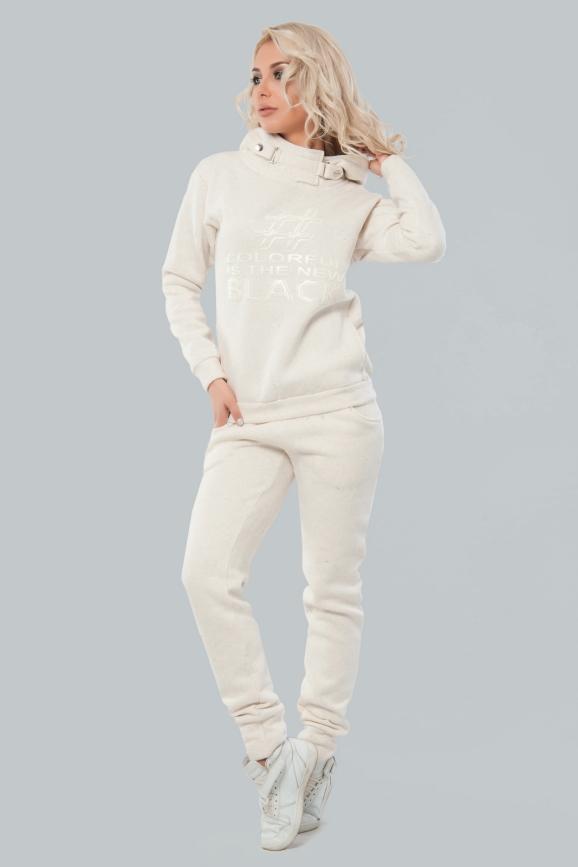 Домашний костюм молочного цвета 029 интернет-магазин vvlen.com