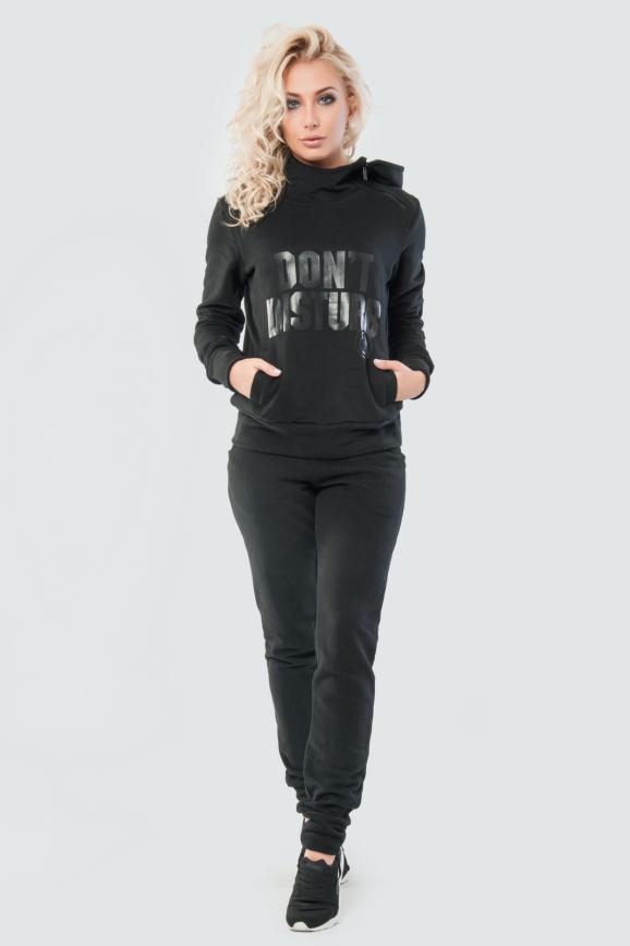 Домашний костюм черного цвета 029|интернет-магазин vvlen.com