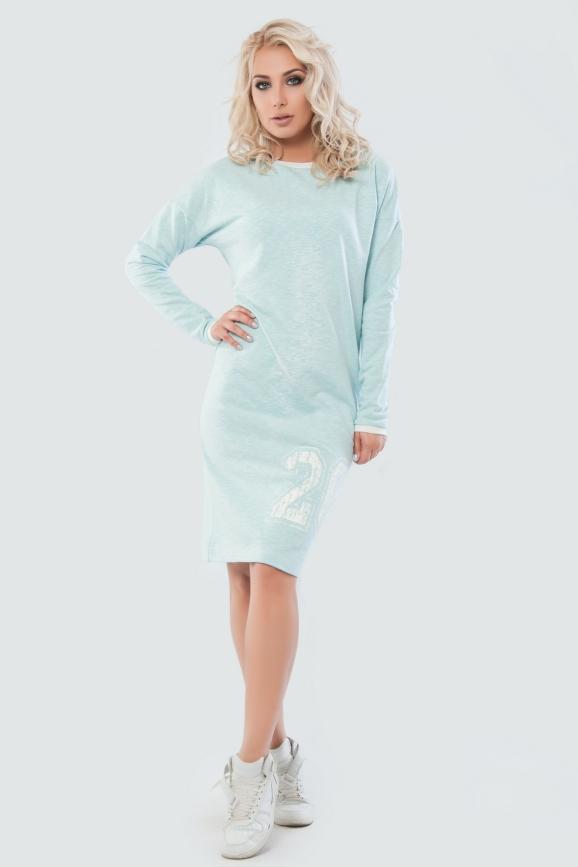 Спортивное платье  голубого цвета|интернет-магазин vvlen.com