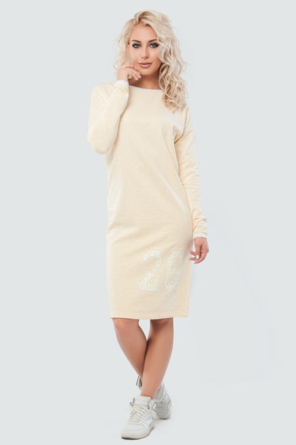 Спортивное платье  желтого цвета 042|интернет-магазин vvlen.com