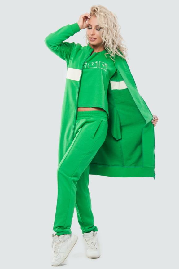 Кардиган стильный зеленого цвета 062|интернет-магазин vvlen.com